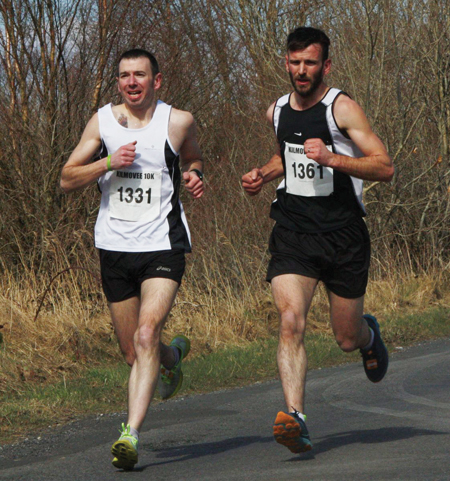 On the road: (L-R) Brendan Gill who finished fourth and Tommy Gill who finished fifth in the Kilmovee 10k last weekend
