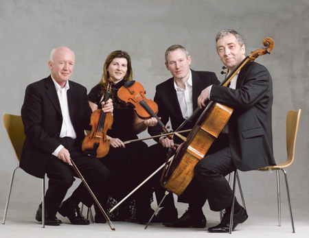 West Ocean String Quartet (L-R): Seamus McGuire, Niamh Crowley, Ken Rice, Neil Martin.