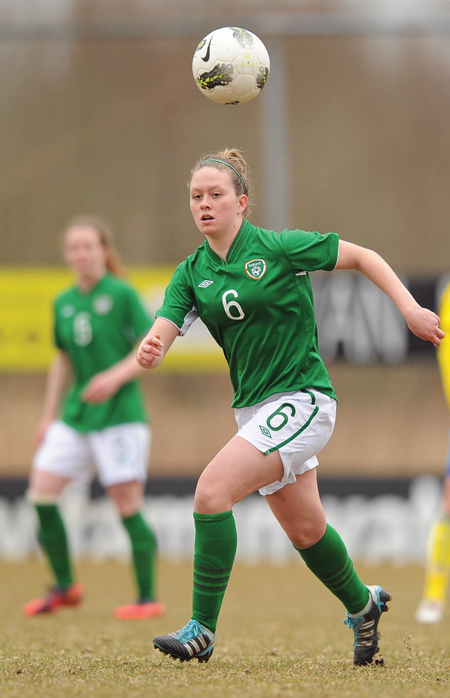 National duty: Castlebar Celtic's Emma Hansberry was on international duty with the Ireland u19 side this week. Photo: Sportsfile