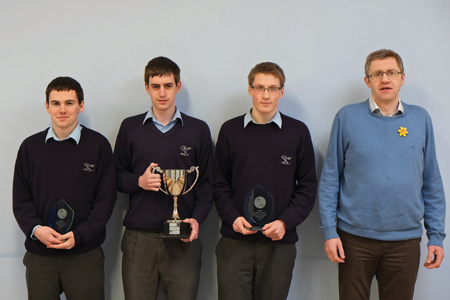 The St Gerald's College, Castlebar, Connacht applied mathematics champions.
