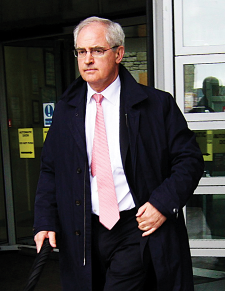 Expert witness Dr Peter Boylan clinical director of the National Maternity Hospital leaving the Savita Halappanavar inquest at Galway County Buildings on Wednesday. Photo:-Mike Shaughnessy