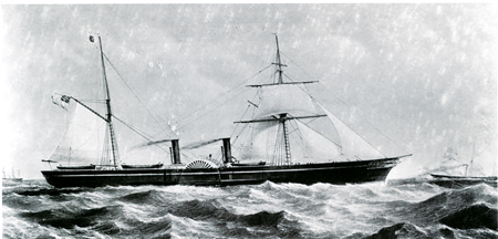 The PS Pacific, a Galway Line ship, was one of the fastest ships of the time. She became a successful Confederate blockade runner, able to outrun Union Navy ships with ease.