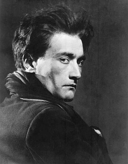 Man Ray's photograph of Antonin Artaud.