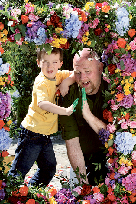 Garden designer Fiann Ó Nualláin launches Bloom 2013 with the help of Allan O'Kearney (five) from Lucan, Dublin. Bloom 2013 takes place at the Phoenix Park from Thursday May 30 to Monday June 3. The gardening, food, and family festival attracted 80,000 visitors last year.