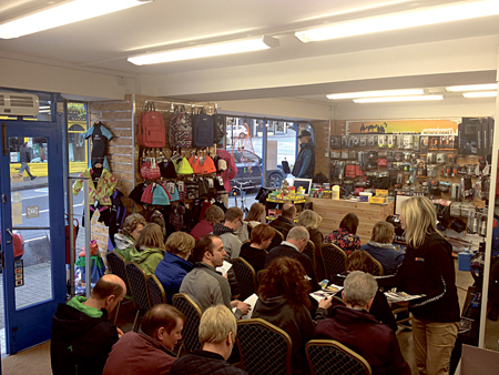 A section of the crowd at the Join the Camino information evening in Portwest, Westport.