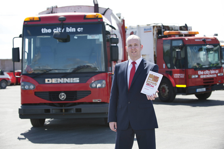 Oisin Browne, The City Bin Co. Pictures: Andrew Downes