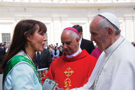Castlebar woman, Catherine Wiley, founder of the Catholic Grandparents Association and grandmother of 10 met with Pope Francis on Pentecost Sunday.