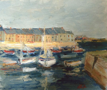 The Claddagh Galway by Margaret Clayton.