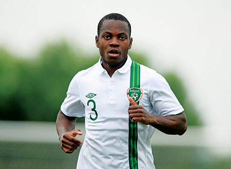 International front: Noe Baba is on international duty with the Irish u19 side this week in Serbia. Photo: Sportsfile