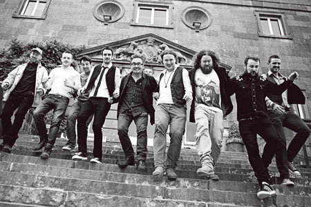 The Cabin Collective on the steps of Westport House. Pic:- Majella Kelly