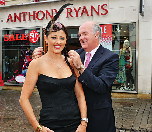 Pictured are Mandy Maher, Catwalk Model Agency (judging panel) and sponsor Anthony Ryan, Anthony Ryan Menswear, at the Launch of Best Dressed Competition on Ladies' Day at the Galway Races.