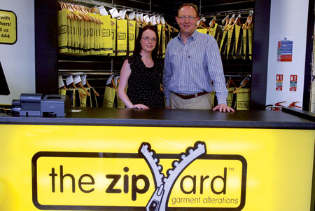 Leila Lynch, manager, and Richard Collins, owner of The Zip Yard.  Photo: molloyphotography