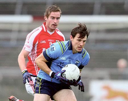 Chief protagonists: Tuam Stars' Gary O'Donnell will be keeping a close eye on Salthill Knocknacarra's Sean Armstrong when the two meet in Tuam Stadium on Sunday at 6pm in a repeat of last year's final which the city side won.