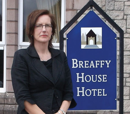 Sabina Cox, the newly appointed sales and marketing manager at Breaffy House Resort.