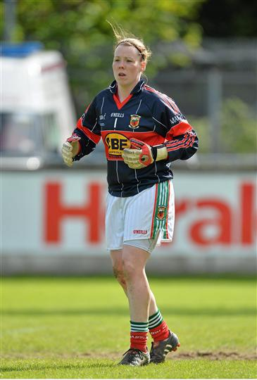 Shot stopper: Yvonne Byrne has been in good form for Mayo this year. Photo:Sportsfile