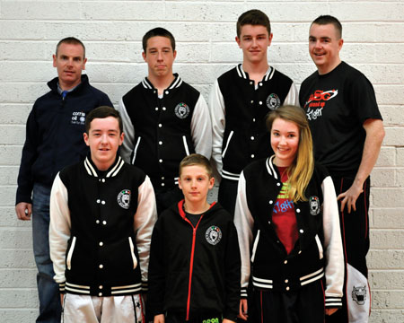 Tigers roar: The White Tigers team who are heading to Belgium for competition this weekend with sponsor Sean Ryan (Corrib Oil, Castlebar) and coach Damien Gormley.