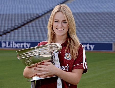 Camogie captain Lorraine Ryan will be hoping to get her hands on the All Ireland trophy on Sunday.