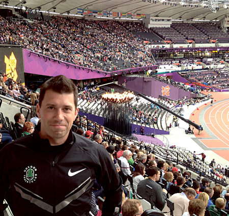 ORRECO's Dr Brian Moore pictured at the Olympic Stadium in London last year.