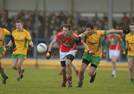 Experienced players like Mark McCallan can help Garrycastle to a semi-final. Photo: John O'Brien