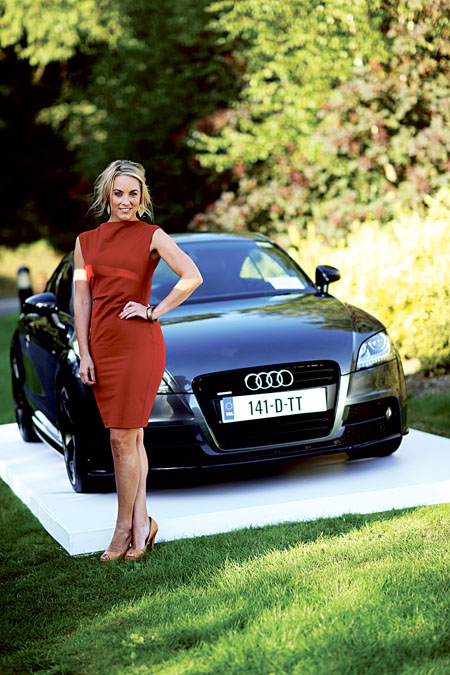 Audi Ireland brand ambassador and broadcaster Kathryn Thomas was at hand to launch the 2014 Audi Future Now sales event.
