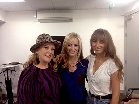 Pictured on Celebrity Apprentice — You're Fired are Dr Lisa Creaven (Quay Dental), and participants Katherine Lynch (Aka Sheila Chic from Wagons Den) and model Danielle Moyles.