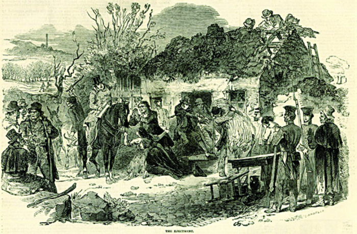 The heartless evictions on the Gerrard estate March 13 1846: Supported by the law of the land, tenants 'had no power to oppose or resist.'