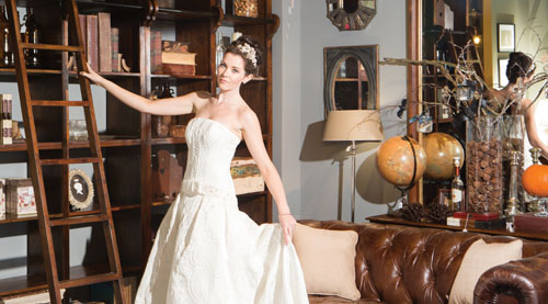 Pictured wearing a Novia D'Art dress from Belladonna Bridal is Michaela from Catwalk Model Agency.