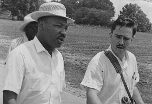 Rev Harcourt Klinefelter pictured  with Dr King.