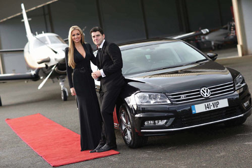 Pictured at the launch of the new Volkswagen VIP package are Volkswagen ambassadors Bernard Brogan and Rosanna Davison.