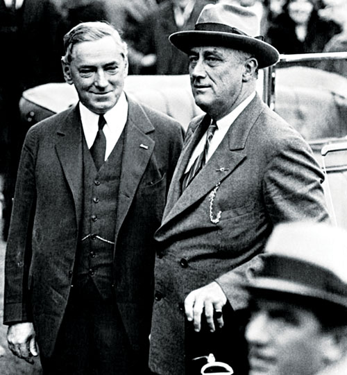 JM Curley became more benign in his later years. He is pictured here with another political star Franklin D Roosevelt.