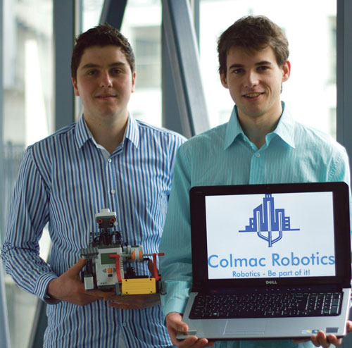Niall McCormick (right) and Colmán Munnelly from Castlebar won a grant for their innovative start-up company.