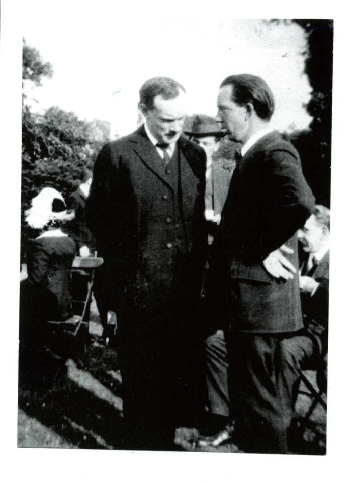 The Pearse brothers, Pádraig and Willie, deep in conversation. Willie, who taught art at Scoil Éanna, shared his brother's financial worries about the future of his schools. (Photo taken from Patrick Pearse - A life in pictures, by Brian Crowley, published by Mercier History, on sale €14.99)