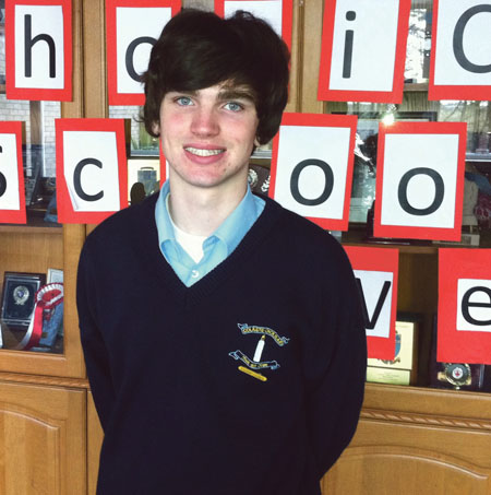 Youth volunteer Luke Gibbons was described as 'remarkable and inspiring'.