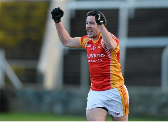 One more to go: Neil Lydon celebrates at the end of the game. Photo:Sportsfile