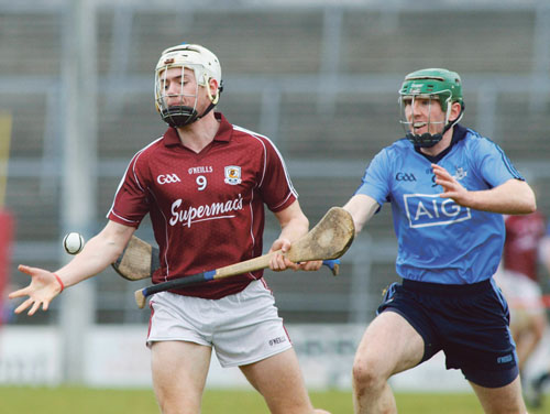 Galway's Padraig Breheny scored two points against Dublin in the Allianz National Hurling League Division 1a game at Pearse Stadium on Sunday. 		Photo:-Mike Shaughnessy