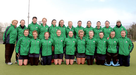 Greenfields make history: Back row: Imelda Brennan (manager), Deirdre McDermott (coach), Sinead Collins, Kelly Dunleavy, Clodagh Kennedy, Siobhan Divilly, Kate Hennessy, Pamela McCann, Neasa McGettigan, Trish Garrett, Sarah McDonald (v-cpt), Derek O'Loughlin (assistant coach).  Front row: Liz Tighe, Alice Meagher, Catherine Moore, Alma Whelan (cpt), Mary McDonald, Anna Boyce, Ellie Noone, Rebecca Gilligan, Laoise Fegan, Clodagh Grealy. Missing from photo: Elaine Hall, Mary Healy, Aine Collins, Becky Anderson, Carmel Heery, Sinead Minihan.