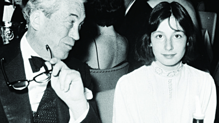 Anjelica with her father John Huston, who had a 'dramatic air about him'.