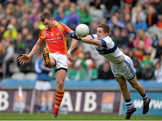 Kicking for glory: Barry Moran gets a shot off against St Vincent's in the All Ireland final. Photo:Sportsfile
