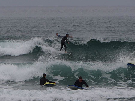 GMIT outdoor education students getting in some practice for the weekend's Surfing Intervarsities.