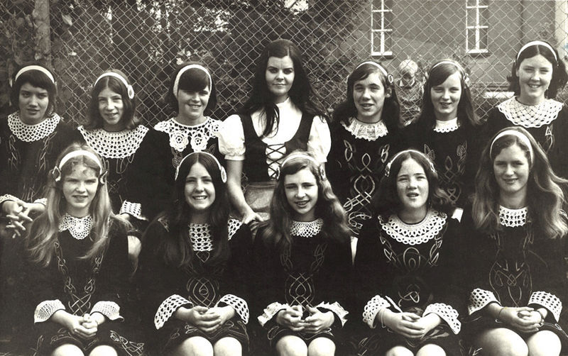Front row, Eleanor O'Toole, Mena Ryan, Deirdre Coyne, Maeve O'Connor, and Bernie O'Brien. Second row; Anna Byrne, Christine Howard, Geraldine Crowe, Celine Hession, Marie O'Brien, Kathleen Ryan, and Theresa Riddell.
