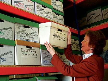 Mary Robinson's personal archive of thousands of books and papers has been gifted to Ballina. Photo: Henry Wills.