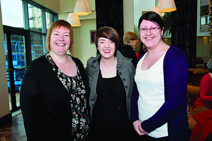 Edel Burke, Boston Scientific , choir masters, Lisa Seary , 'Something to Sing About' and Ruth McElinn Kelly, HP, at the launch of Choirfactor 2014' which takes place in the Radisson Blu Hotel, Galway on Friday April 11 2014. Photo:Andrew Downes