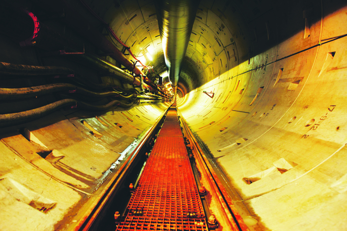 Shell E&P Ireland's underground tunnel, which stretches for 4.9 kilometres.
