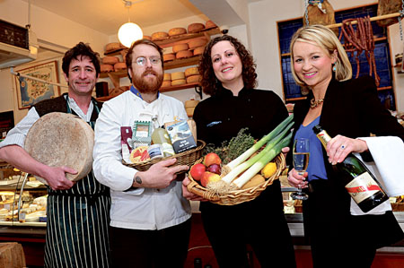 Pictured are Seamus Sheridan (Sheridan's), JP McMahon (Cava Bodega and Galway Food Festival chair); Heather Flaherty (deputy chair, Galway Food Festival, and head chef at McCambridge's); and Margaret Jenkins, (general manager, The House Hotel).