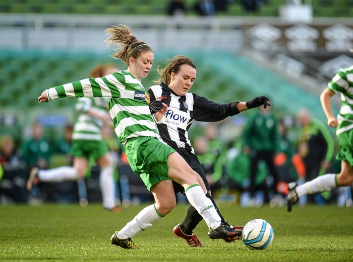 Hansberry the hero: Emma Hansberry's performance for Celtic booked their place in the league cup final. Photo:Sportsfile