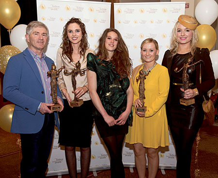 At the Irish Fashion Innovation Awards Galway's James McKeon ( Kiyoni) was named 'Accessory Designer of the Year',  Blaithin Ennis from Wexford was selected as 'Jewellery Designer of the Year',    Sligo based designer, Rebecca Marsden was named Designer of the Year, Cork's Emma Gannon, won the Student Designer Award and County Clare's Margaret O'Connor  was awarded the title of  'Millinery Designer of the Year'  in the Radisson Blu Hotel in Galway. Photo:Andrew Downes