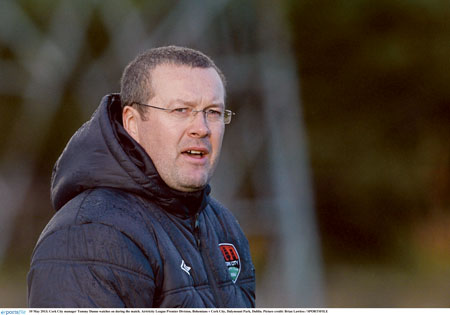 """We have to encourage the players more to get in the box,"" says manager Tommy Dunne."