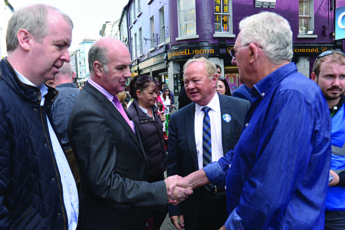 Shop Street walkabout: Jim Higgins MEP meets Anthony Ryan on Shop Street on Saturday with Brian Walsh and John Mulholland.