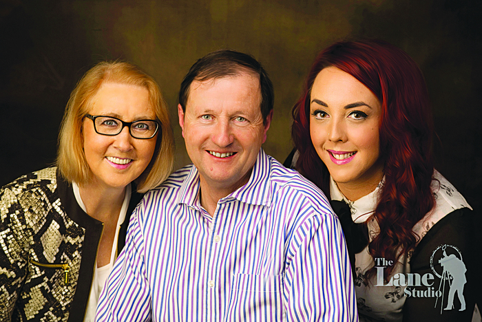 Pictured are the team at The Lane Studio; Ann and Gerry O'Gorman and Vanessa Patterson.