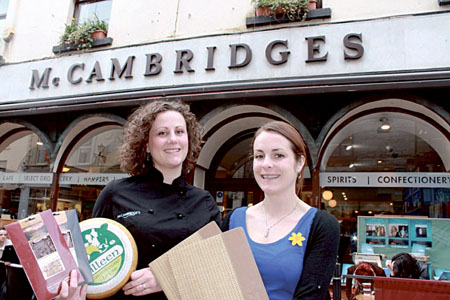 Head chef Heather Flaherty and front of house manager Heidi Duncan of McCambridge's Restaurant, Galway,  celebrate winning the Bord Bia Just Ask Restaurant of the Month award.